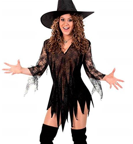 Kostüm Magie Schwarze - KarnevalsTeufel Damen-Kostüm Hexen Tunika, braun-schwarz, Witch, Zauberin, sexy Kleid, Halloween