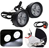 #8: AutoSun 4 Led 10 Watt Scooty Mirror Fog Light Lamp With Switch - Set Of 2 For Honda Activa 125
