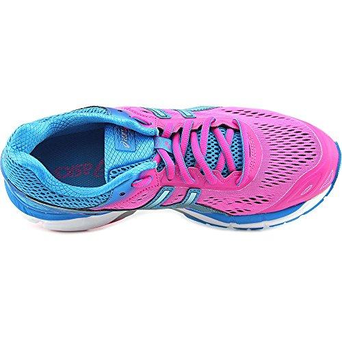 Asics Gel-Pursue 2 Femmes Large Toile Chaussure de Course Pink Glow-Aqua Splash-Turquoise