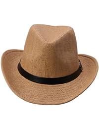 Y-BOA Chapeau de Plage/Panama Unisexe Style Visière Large en Paille, Brun, différent