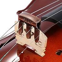 Sordina Silenciador de metal ejercicio cuidado fácil para Viola y violín 3dientes