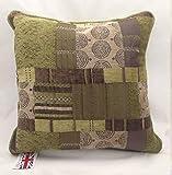Homestreet Cushions Evans Lichfield Marokko, Grün und Braun mit Patchwork-Kissen?17?22cm 17 Inch Poly