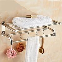 Towel Bars Barra Doble Barra de Toalla de Acero Inoxidable Baño Toalla de  Baño Estante toallero 723baadb6e16