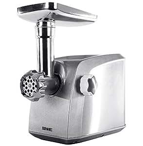 Duronic MG1600 Tritacarne elettrico macinacarne Tritacarne da cucina Macina Carne con accessori 1600W in acciaio INOX, prepara salsicce e polpette