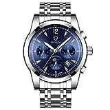 IPOTCH Reloj Mecánico Automático para Hombre Automatic Watch - Azul