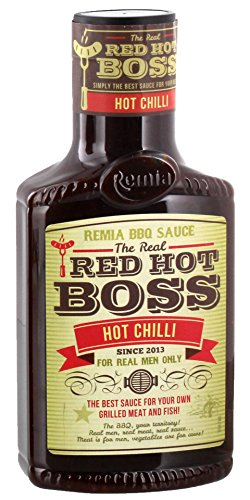Remia - The Real Red Hot Boss Hot Chilli Grillsauce Steaksauce BBQ-Sauce - 450ml