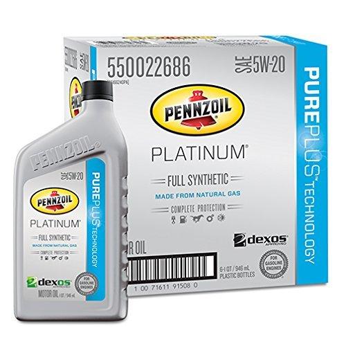 pennzoil-550022686-6pk-platinum-full-synthetic-5w-20-motor-oil-1-quart-pack-of-6-by-pennzoil
