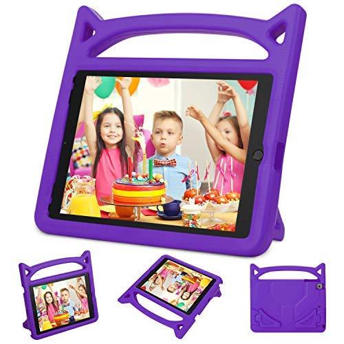 Neue iPad 24,6cm 2017/iPad Air 2/iPad Air case-dinines Kids Friendly Licht Gewicht stoßfest Cabrio Griff Stand Cover für Apple new iPad 24,6cm 2017Modell, iPad Air 2, iPad Air 2017 ipad case-Purple Cabrio Stand