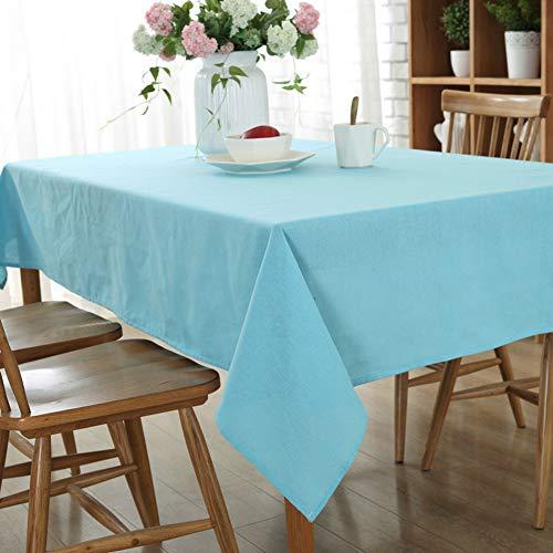 DOTBUY Tischdecke Garten, Weihnachten Volltonfarbe abwaschbar Tischtuch Leinentischdecke Pflegeleicht Fleckschutz Farbe & Größe wählbar - Leinen Tischdecke Weiße Quadratische