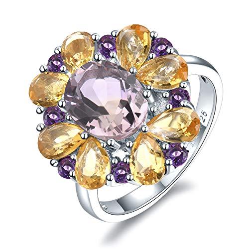 25 Sterling-Silber  Sterling-Silber 925 Tropfenschliff   pink/rosa Amétrine  ()