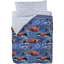 Disney Cars Maximum Funda Nórdica, Algodón-Poliéster, Azul, Cama 100/110 (Doble), 200.0x105.0x25.0 cm, 3 Unidades