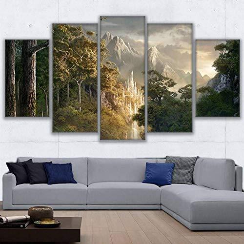 EXQART Pinturas Lienzo Arte Pared Impresiones Marco