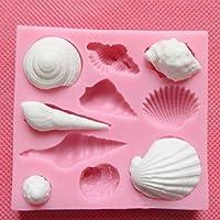 Torta molde herramienta-azúcar fondant torta molde cortador-silicona Sugarcraft molde pastel decoración herramientas concha