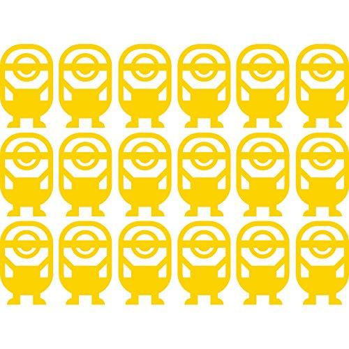 Lovely Cute Fancy Set von 18berühmten Smart Minions Dekoration (45cm x 60cm) wählen Sie Farbe 18Farben auf Lager Badezimmer, Childs Schlafzimmer, Kinder Zimmer Aufkleber, Auto Vinyl-, Windows und Wandtattoo, Wall Windows Art, Decals, Ornament Vinyl Sticker ThatVinylPlace Gelb