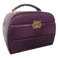 Jewellery Box - Croc Leather Effect (BZ4572 PURPLE)