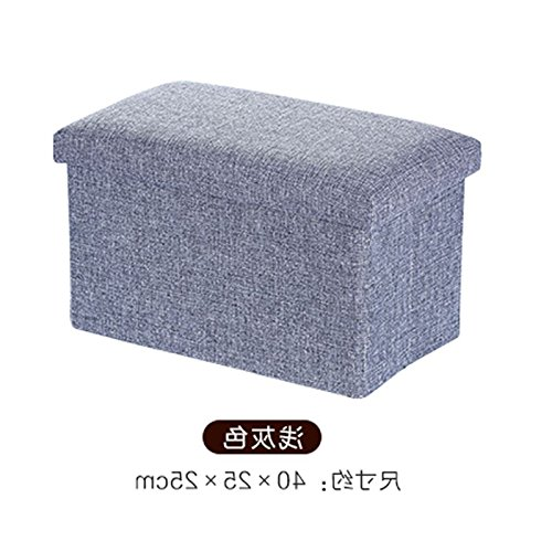 Preisvergleich Produktbild Fuß Storage, Hocker, multifunktionale Sofa, Faltschachtel, Stoff Storage, Storage und Storage Hocker, grau