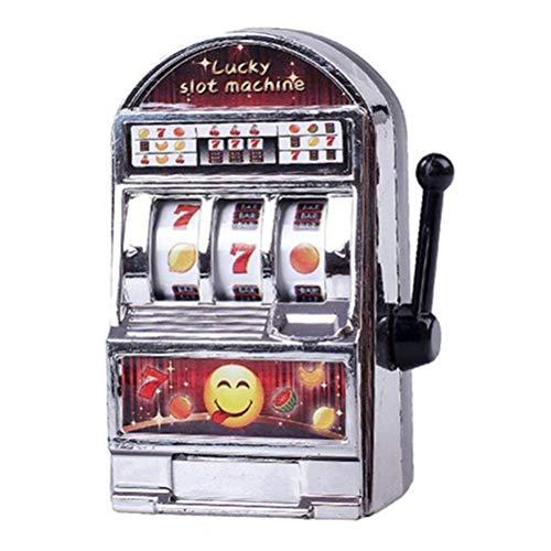 Bweele Drôle Jouet en Métal Mini Machine À sous Chanceux Enfants Adulte Mini Casino Jackpot Machine À Slots Fruits Stress, Peur, Jouet De Décompression Ennui