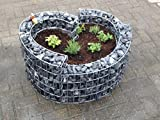 Gabionen Wolfsburg, Gabionen, 100x100x50 cm, Kräuterspirale, Kräuterbeet, Garten