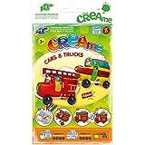 Feuchtmann Juguetes 6340701 - Klecksi Creame en coches y camionetas, 3D - colorear, bomberos adorno y la escuela de autobuses