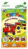 Feuchtmann Spielwaren 6340701 - Klecksi Creame Cars and Trucks, 3D Malvorlage, Motiv Feuerwehr und Schulbus
