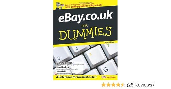 Ebay Co Uk For Dummies Amazon Co Uk Jane Hoskyn Steve Hill Marsha Collier 9780470518076 Books