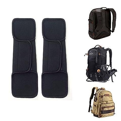 Ersatz Schultergurt Pad für Rucksack, Kamera, Messenger, Laptop, Gitarre, Bag -Velcro verstellbare Schulterpolster mit Memory Foam (Shoulder Pad 01)