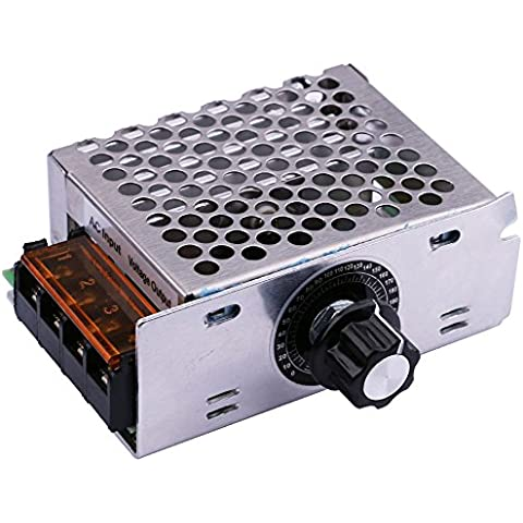 yeeco AC 220V 4000W SCR Regulador de voltaje de electrónicos regulador de la intensidad Termostato EZB de regulador de velocidad Gobernador