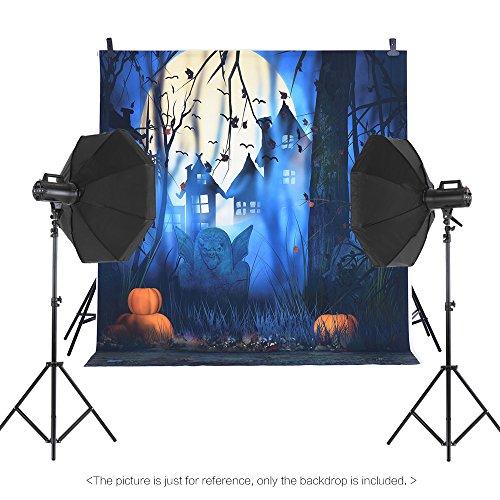 grafie-Hintergrund-Kulisse Digital-Druck Hallowmas Halloween-Kürbis-Friedhof-Schläger-Muster für Foto-Studio (Kürbisse Halloween-hintergrund)