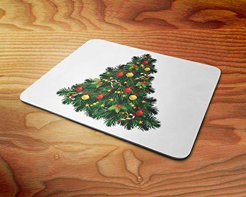 Weihnachten Weihnachtsbaum mit Dekorationen Weiche 5mm Gummi-PC-Mausunterlage - für Spiele zu Hause oder im Büro