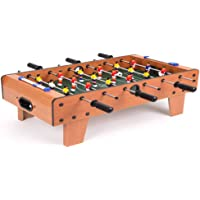 iris foosball table- portable mini table football / soccer game set with two balls and score keeper for adults and kids…