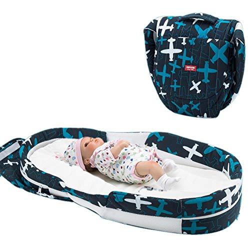 Imagen para Cuna de bebé portátil de algodón suave y transpirable, plegable, para bebés de 0 a 1 año A