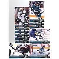 2010-11 Upper Deck San Jose Sharks Veteran Team Set- 12 NHL Trading Cards Including - Joe Thornton, Dany Heatley, Joe Pavelski, Patrick Marleau, Antti Niemi, Logan Couture and more