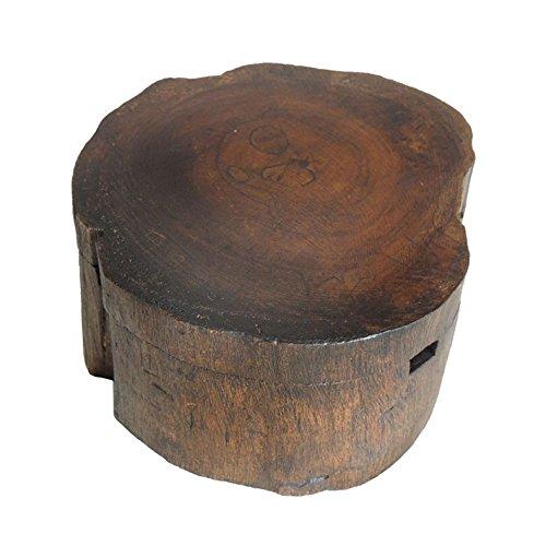 SDKIR-Cenicero cenicero de madera con tapa de madera del Sudeste Asiático creativas decoraciones SPA,5 pulg.