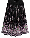 Bunte Womans Damen Indianer Boho Hippie Zigeuner Sequin Sommer Sommerkleid Maxi Bauchtanz Rock (5)
