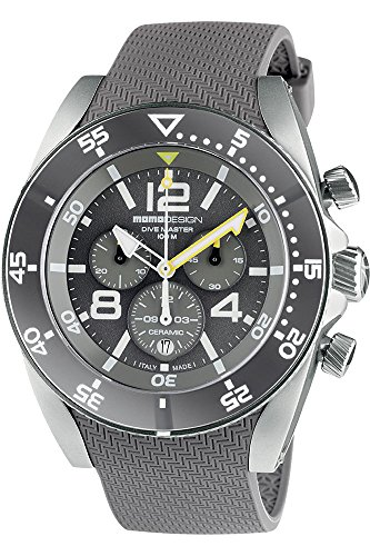 MomoDesign Diver Master Sport Herren-Armbanduhr Chronograph Quarz MD1281LG-41