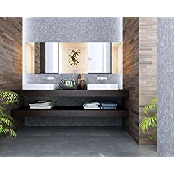 Plan sous vasque, avec rebord de 8 cm en frêne massif, 120 x 48 x 2 cm