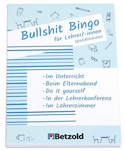 Betzold 758704- Bullshit-Bingo Spieleblöckchen - Geschenke für Lehrer/innen