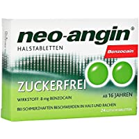 Neo-angin Benzocain Halstabletten zuckerfrei, 24 St preisvergleich bei billige-tabletten.eu