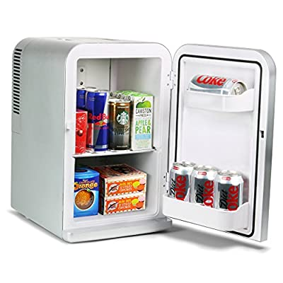 15 Litre Mini Fridge Cooler and Warmer - Silver