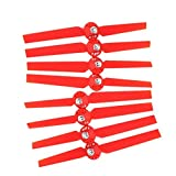 Hensych® 4 Pairs Propellers Rotor Blade Sets A B for YUNEEC Typhoon G Q500 Q500+ Q500 4K RC Air Force Airplane Helicopter Propeller Quadcopter Drone Accessories Parts(Red)