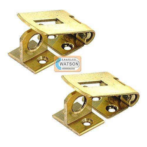 Par de latón macizo aldaba para candados con bisagra para armarios/puerta del armario - 2 x 38 mm