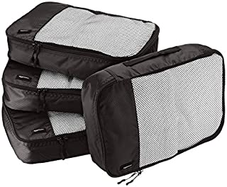 AmazonBasics Lot de 4 sacoches de rangement pour bagage Taille M, Noir (B014VBGKFW) | Amazon price tracker / tracking, Amazon price history charts, Amazon price watches, Amazon price drop alerts