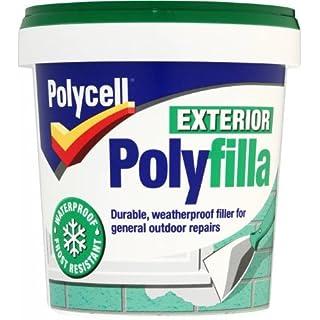 Polycell Polyfilla – 1 kg graue, gebrauchsfertige Mehrzweck-Spachtelmasse für den Außenbereich
