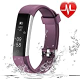 LETSCOM Fitness Tracker HR, Fitness Watch With Heart Rate Monitor, Slim Pedometer Watch Sleep Monitor, Step Counter, Calorie Counter For Kids Women And Men - B07F8RY85Q