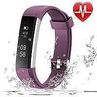 LETSCOM Fitness Tracker HR, Fitness Watch Heart Rate Monitor, Slim Pedometer Watch Sleep Monitor, Step Counter, Calorie Counter Kids Women Men