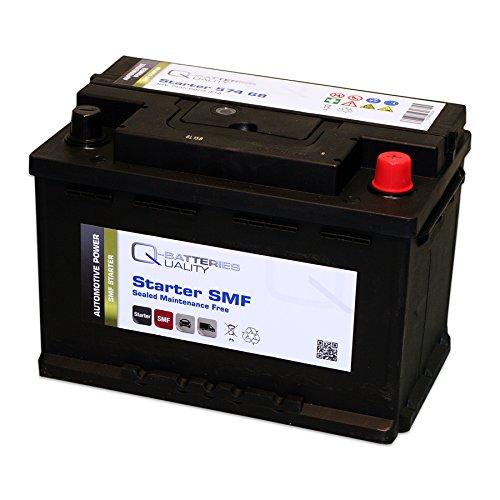 Q-Batteries Starterbatterie 574 68 Q74 12V 74Ah 680A (EN) Säure