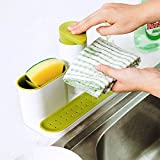 CONNECTWIDE® Bathroom Organiser With Soap Dispenser Kitchen sink organizer caddy holder for sponges, soap, scrubbers, cleaning brush, great suction cup organization tray for kitchen or bathroom.(1 pc) Color : Blue