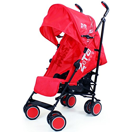 Zeta Citi Stroller Buggy Pushchair Red Buggies Prams
