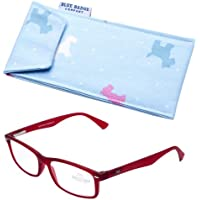 Blue Badge forza 2, motivo: Ready to Wear Montana-Occhiali da lettura con custodia imbottita, motivo farfalle, colore: rosa