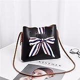 BMKWSG Damen Handtasche/Clutch, gesteppt, klein, goldfarben Modern schwarz